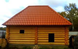 Как самостоятельно сделать крышу для бани