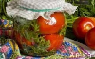 Помидоры маринованные с морковной ботвой простой и вкусный рецепт