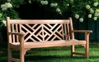 Как самостоятельно сделать скамейку для сада