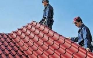 Самостоятельное покрытие крыши металлочерепицей