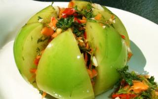 Как вкусно приготовить зеленые помидоры по грузински на зиму