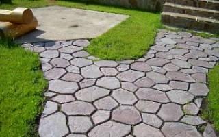 Как самому отлить тротуарную плитку для дачного участка